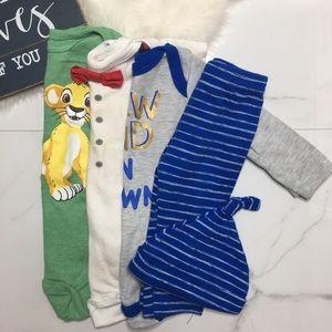 🎉Bundle baby boy bodysuits bottoms hat B6-28